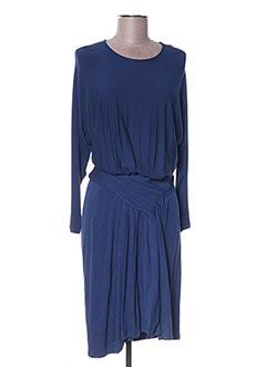 Robe mi-longue bleu ELISABETTA FRANCHI pour femme