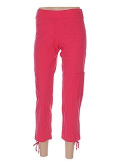 Pantalon 7/8 rouge GOUBI pour femme