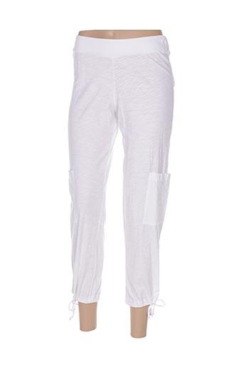 Pantalon 7/8 blanc GOUBI pour femme
