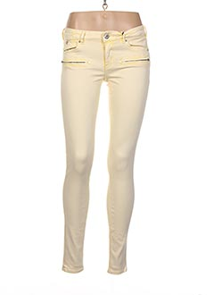Pantalon casual jaune SCOTCH & SODA pour femme