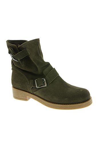 Bottines/Boots vert ALFA pour femme