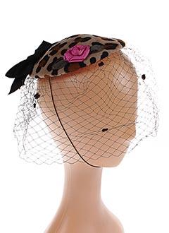 Chapeau marron GREVI pour femme