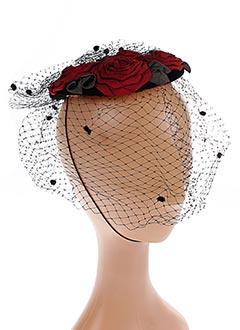 Chapeau rouge GREVI pour femme