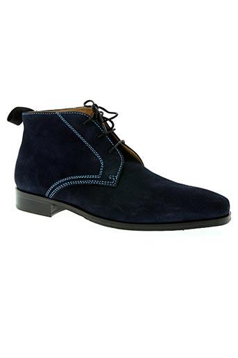 Bottines/Boots bleu DE GIER pour homme