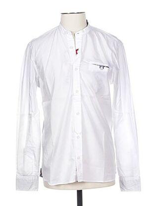Chemise manches longues blanc BOB pour homme