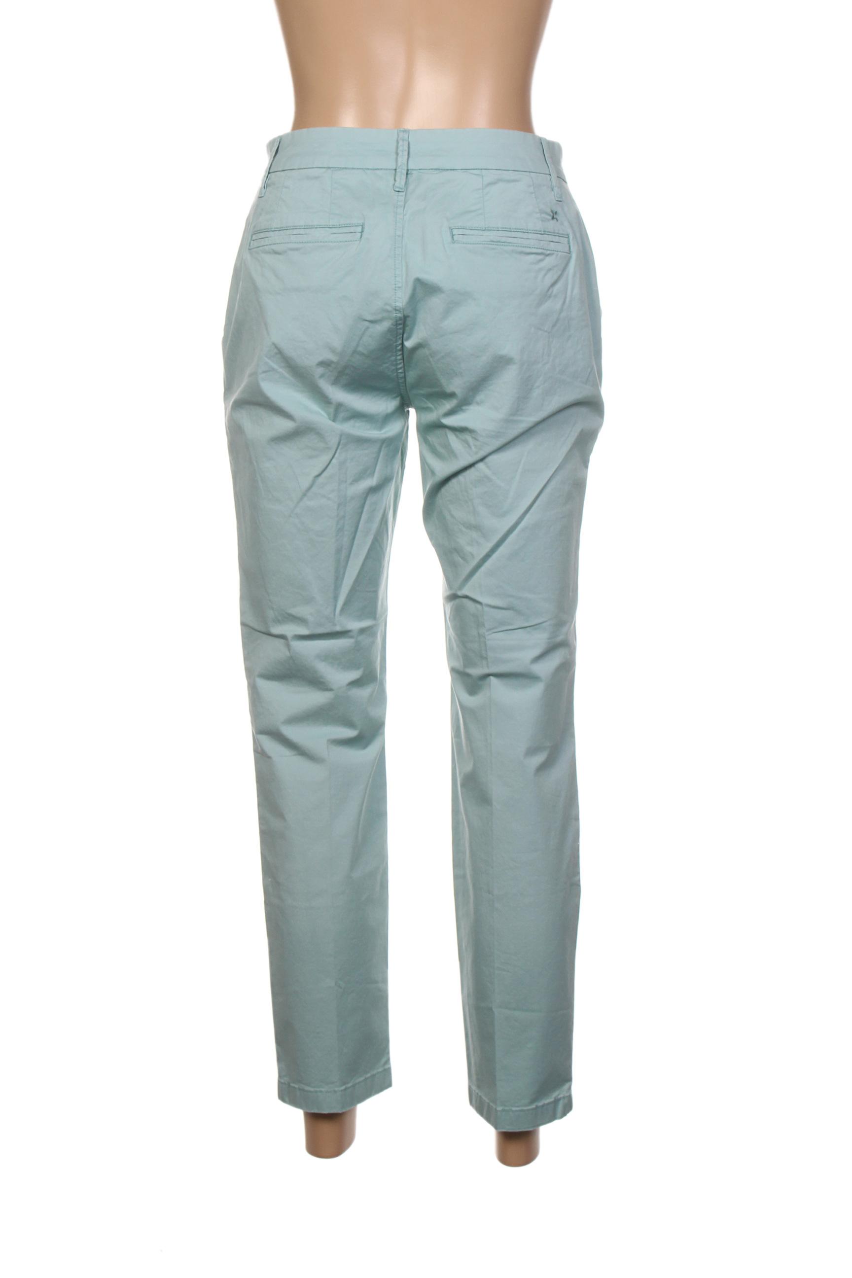 Closed Pantalon7 8 Femme De Couleur Vert En Soldes Pas Cher 1329096-vert00