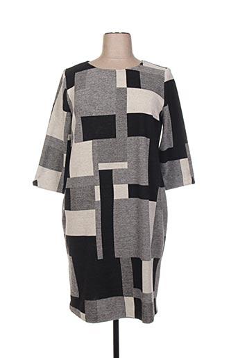 Robe courte gris ECCENTRICA pour femme