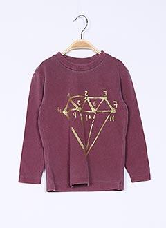 T-shirt manches longues rouge SGIO pour fille
