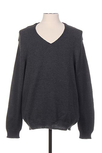 Pull col V gris FAIRPLAY pour homme