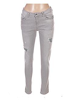 Jeans coupe slim gris LIU JO pour femme