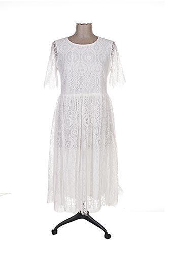 Robe mi-longue blanc BRIGITTE BARDOT pour femme