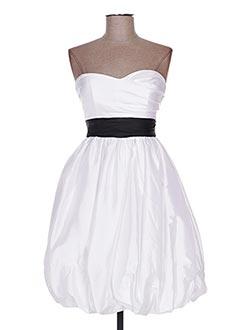 Robe courte blanc EDRESSIT pour femme