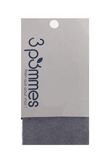 Collants gris 3 POMMES pour fille