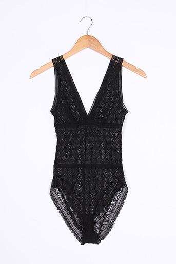 Body lingerie noir ELSE pour femme