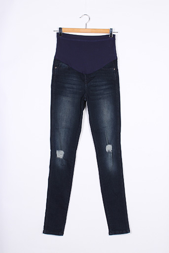 Jeans coupe slim bleu ANYCASE pour femme