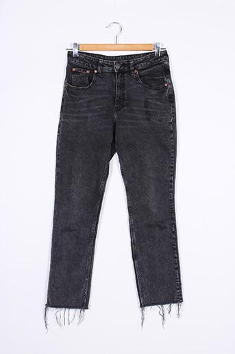 Jeans coupe slim noir CHEAP MONDAY pour femme