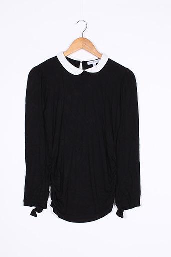 T-shirt manches longues noir ENVIE DE FRAISE pour femme