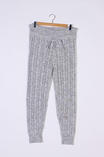Pantalon casual gris CAMEO ROSE pour femme