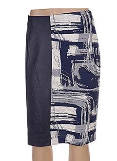 Jupe mi-longue bleu JEAN DELFIN pour femme