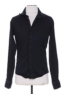 Chemise manches longues noir CHROM pour homme