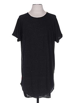 T-shirt manches courtes noir DEELUXE pour homme