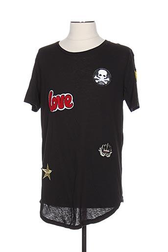 T-shirt manches courtes noir BERRY DENIM pour homme