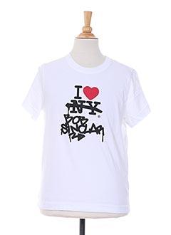 T-shirt manches courtes blanc BOB SINCLAR pour garçon