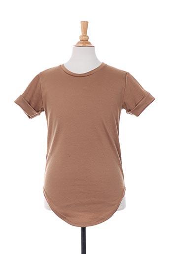 T-shirt manches courtes marron CELEBRYTEES pour garçon