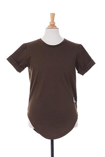 T-shirt manches courtes vert CELEBRYTEES pour garçon