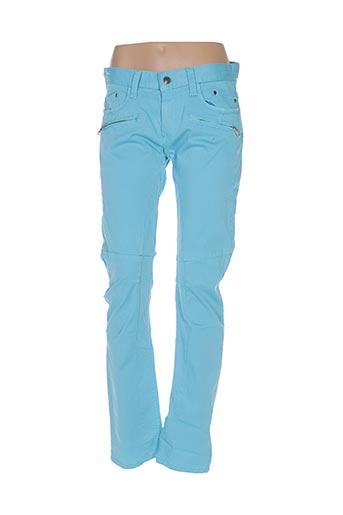Pantalon casual bleu CIPO & BAXX pour femme
