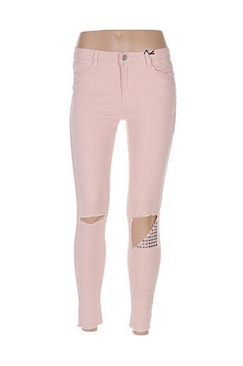 Pantalon casual rose BLUE RAGS pour femme