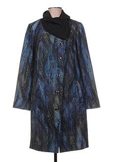 Manteau long bleu DECA pour femme