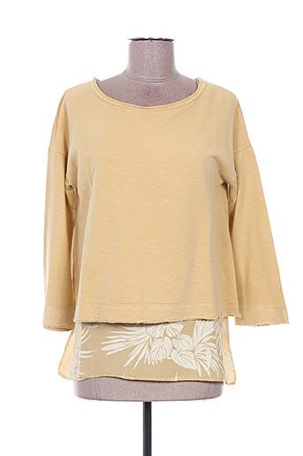 Sweat-shirt jaune DEHA pour femme