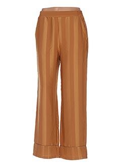 Pantalon casual jaune GRACE & MILA pour femme