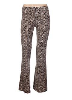 Pantalon casual marron GENIRIS pour femme