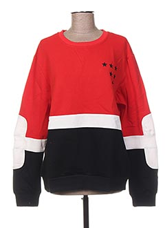 Sweat-shirt rouge GENIRIS pour femme