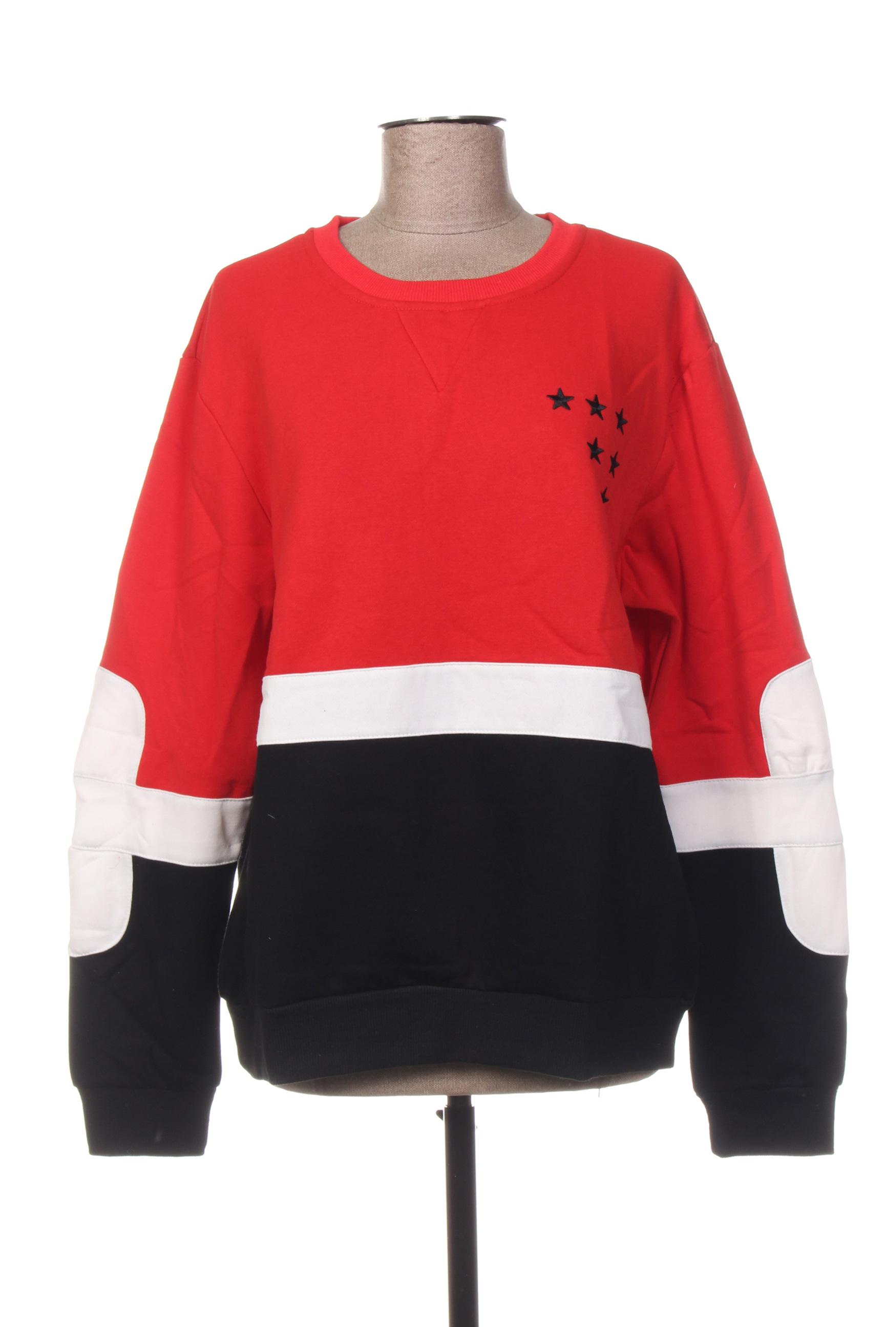 Sweat-shirt femme Geniris rouge taille : 40 12 FR (FR)