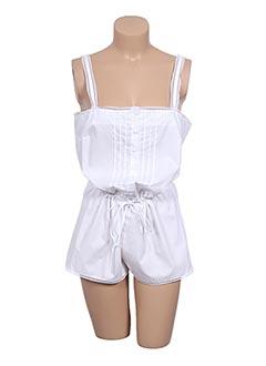 Pyjashort blanc PRINCESSE TAM-TAM pour femme