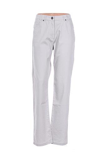 Pantalon casual beige CLAUDE DE SAIVRE pour femme