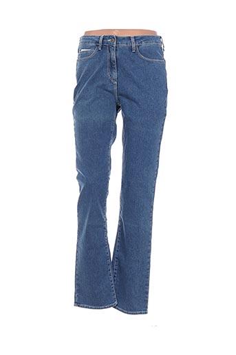 Pantalon casual bleu CLAUDE DE SAIVRE pour femme
