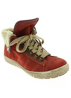 Bottines/Boots rouge RIEKER pour fille