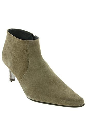 Bottines/Boots beige AYAME pour femme