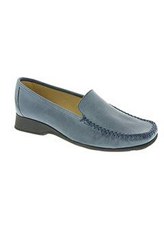 Mocassins bleu HIRICA pour femme