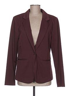 Veste chic / Blazer rouge ICHI pour femme