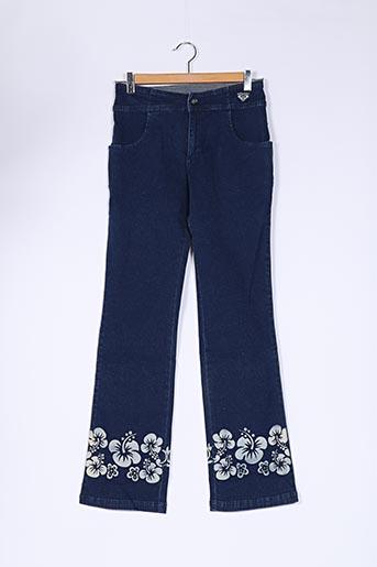 Jeans coupe droite bleu QUIKSILVER pour fille