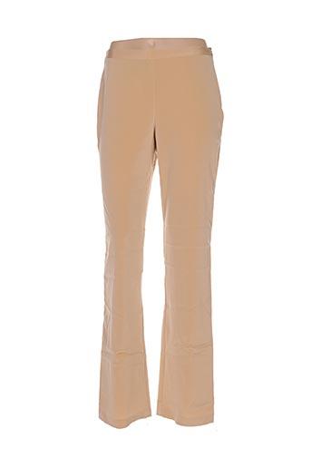 Pantalon casual beige CHRISTIAN LACROIX pour femme