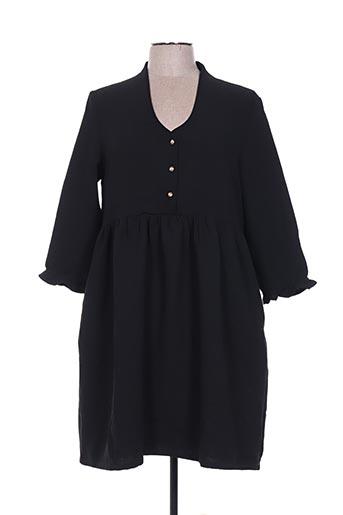 Robe mi-longue noir CHARLIOR pour femme
