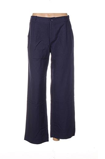 Pantalon casual bleu CHARLIOR pour femme