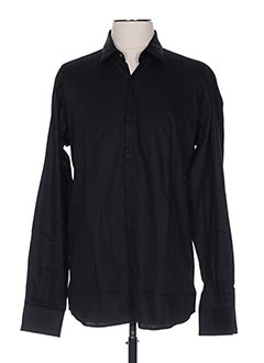 Chemise manches longues noir KARL LAGERFELD pour homme