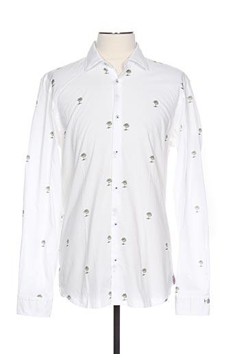 Chemise manches longues blanc MANUEL RITZ pour homme